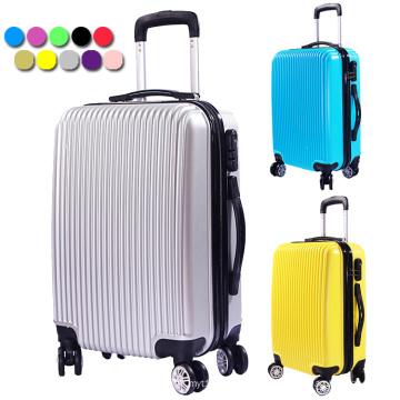 20 '' / 24 '' / 28 '' PC + ABS Conjunto colorido de bagagem Sacos de viagem Cheap Trolley Suitcase Set for 2016