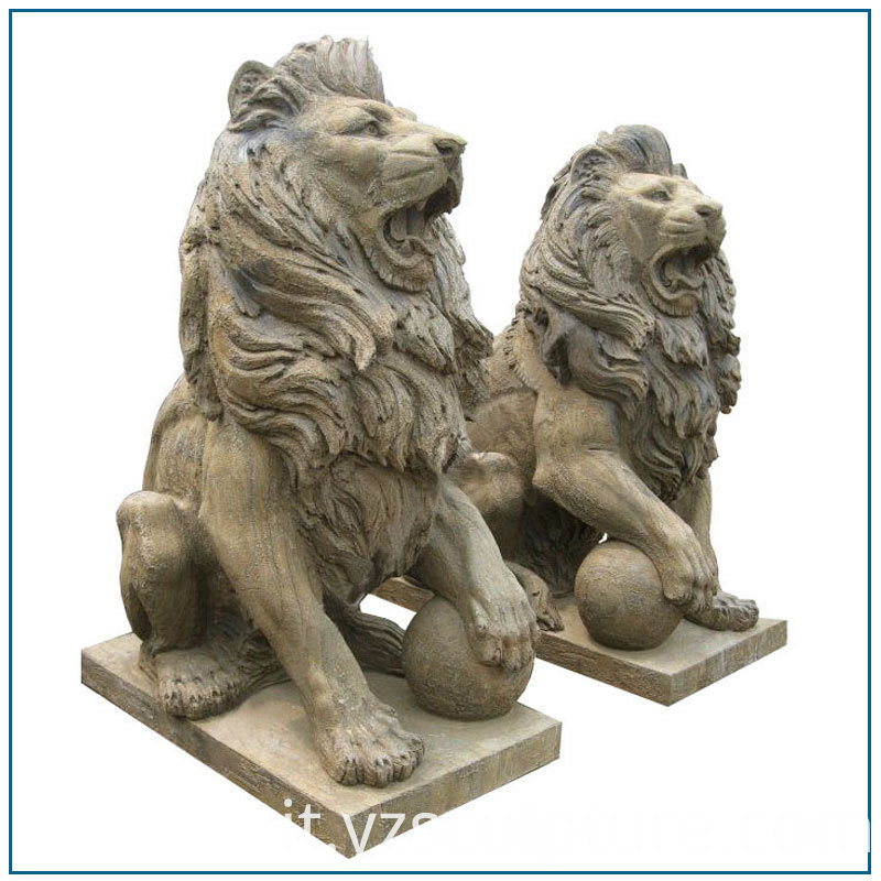 antique stone lion