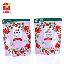 custom printed resealable bags tea bags