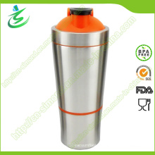 700 Ml Stainless Steel Protein Shaker Bottle with Storage (SS-A2)