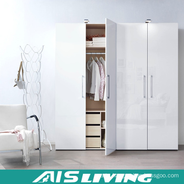 Apartment Project Bedroom Wardrobe Pull out Door Design (AIS-W486)