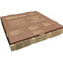 ЭКО-Дружественных Коробка Треугольная Крафт-Бумаги Пицца