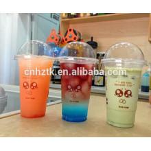 Der wegwerfbare Plastiksaft Sojabohnenmilchbecher