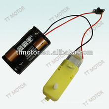 5v 6v low speed dc motor with plastic gear box for toy