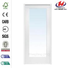 30 in. X 80 in. Classic Klarglas 1-Lite Composite Prehung Innenraum Französische Tür