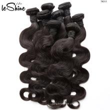 Alta qualidade cabelo humano weave vendor atacado onda do corpo virgem feixes de cabelo brasileiro