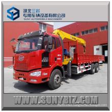 Crane Load 10t 12t Faw J6m 6X4 Truck Mounted Crane
