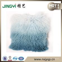 Cojín de piel de cordero mongol tibetano al por mayor muchos colores