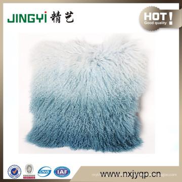 En gros tibétain mongol agneau fourrure housse de coussin beaucoup de couleurs
