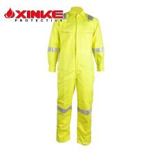En471 ropa de seguridad de color de dos tonos con cintas reflectantes para el trabajador de alta mar