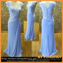 Abendkleid von Chiffon Meerjungfrau Partei Kleid Spitze Stoff Kleid BYE-14084