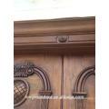 Holztür Radius Eisen Eingangstür Haupteingang Doppeltür Design