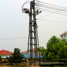 10 Kv Four-Poster Type Terminal Steel Pipe Power Transmission Tower