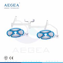AG-LT015 bombillas LED dos cabezas hospital quirófano tratamiento utilizado techo lámpara de funcionamiento