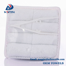 100% Cotton terry 21s hot and cold airline towel with plastic tong in tray 100% Cotton terry 21s hot and cold airline towel with plastic tong in tray