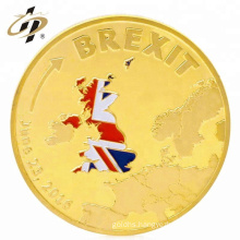 Custom stamping gold challenge metal soft enamel coins for souvenir