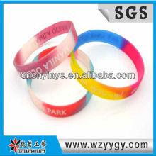 Banda de silicona multicolor publicidad para promocion