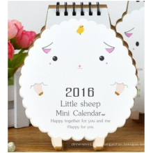 Netter Desktop-Großhandelskalender, Dekorations-Schafe, die Kalender modellieren