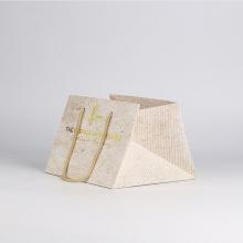Square bottom customized flower shopping paper bag