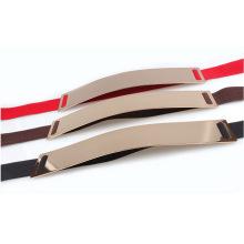 Metallspiegel Mode Dame elastischen Gürtel