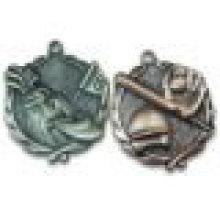 3D de diseño antiguo de aleación de zinc fundición en blanco Insertar Medalla -Bulk Sale / Factory Supply