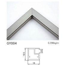 Gebürsteter silberner Aluminiumkabinettrand