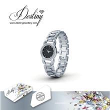 Destino joias cristal de Swarovski Luxx relógio