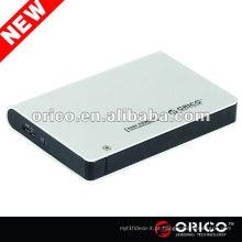 "ORICO 2598US3 Estojo externo de 2,5 ""para disco rígido SATA, caixa de alumínio, gabinete disco rígido USB3.0"