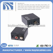 Digital to TV Analog Audio Video Converter Converts Coaxial , Toslink digital audio signals to analog L/R audio