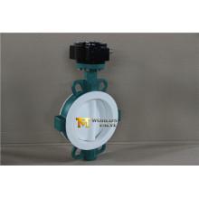 Полное покрытие pfa Тип Клапан-Бабочка вафли с CE ИСО wras утвержден (CBF04-TA01)
