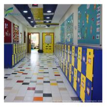 Single door hpl primary school bag locker cabinet