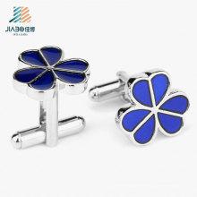 Cufflink feito sob encomenda da flor do esmalte de alta qualidade da venda superior para o presente relativo à promoção