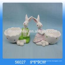 Превосходные керамические чашки для яиц с симпатичной фигуркой из кролика