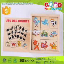 EN71 Standard Shadow wooden domino game set for kids