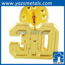 Подгонянное золото 3D фирменными значками