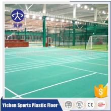 Tapis de sol professionnel de qualité professionnelle sable modèle badminton pvc