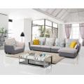 Популярные 3 Seater Ткань Угловой диван Набор Мебель для гостиной