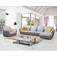Sofá de esquina de tela de 3 plazas popular Set Muebles de sala de estar