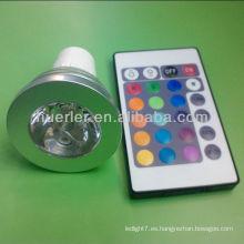 Gran precio de la alta calidad 2 años de la sola viruta gu10 de la garantía llevada luces color cambiable