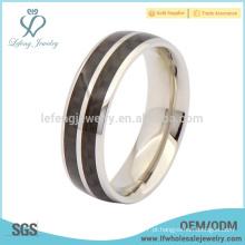 Novo anel de prata de titânio da chegada, anel preto do banco do esmalte