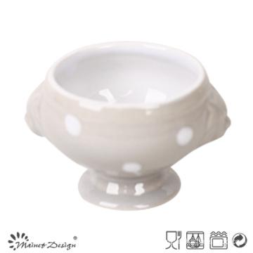 1000ml Ceramic Lion Header Grey Color Dots Design Mug