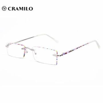 marcos de lentes ópticos sin montura hermosa