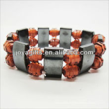 01B5009-5 / nuevos productos para 2013 / hematita spacer pulsera brazaletes / brazaletes de hematita