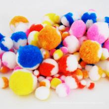 pompom fuzzy, pompom de algodão colorido, acessórios de diy acessórios de pompom