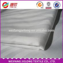 tela de la ropa de cama del hotel / tela de la raya del satén para los sistemas del lecho / proveedor de China de la tela del bedsheet supplier tela de la raya del satén del algodón 100% peinada