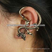Joyería única EC61 del pun ¢ o del oído del diseño del dragón de la vendimia al por mayor