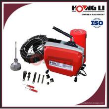 D150 eléctrico seccional tubo drenaje limpiador / sinfín drenaje máquina de limpieza CE
