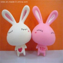 PVC-Vinyl-weißes Kaninchen-Baby-Spielzeug