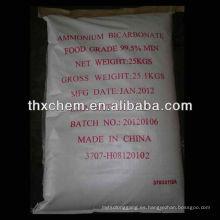 Productos químicos de bicarbonato de amonio de calidad alimentaria