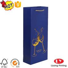 Decorative fancy Paper Wine bottle packaging Bag